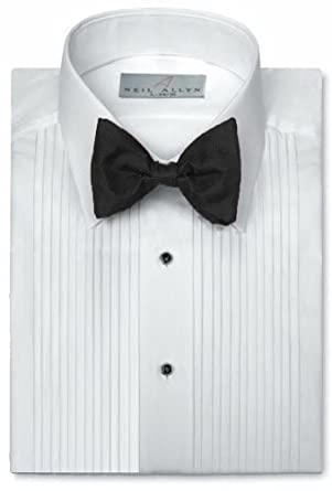 Neil Allyn Mens Tuxedo Shirt Polycotton Laydown Collar 14 Inch