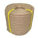 100% Natural Jute Rope Hemp Rope 100 Feet 1/2 Inch Strong Jute Twine for DIY Crafts Gardening Hammock Home Decorating