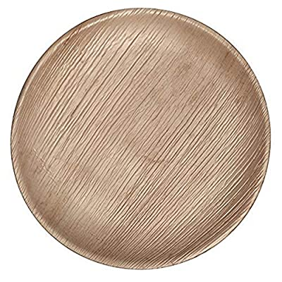 "CaterEco Round Palm Leaf 7"" Salad Plates 