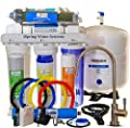 iSpring 75GPD 7-Stage Reverse Osmosis De-ionization Water Filter with Dual Outlets for Reef and Drinking #RCC7D2