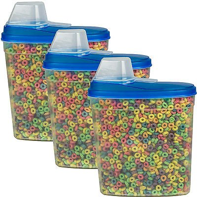 3 Pack Large Cereal Keeper Food Storage Container 23.75 Cup BPA Free from Unknown