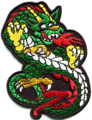 Chinese Dragon Kung Fu Martial Arts Biker Tattoo Applique...