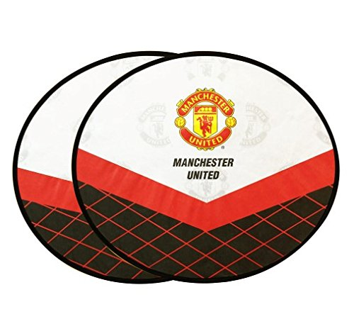 Manchester United Car Accessory : 2 pcs Spring Sunshade Side Window #B'