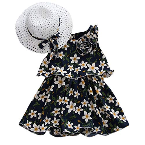 After Six Empire Waist Bridesmaid Dress - LiLiMeng 2019 New Toddler Baby Girls Sleeveless Floral Flowers Bow A-Line Skirt Party Princess Ruched Dresses Hat Outfits