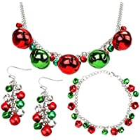 Your Little Lovely Jingle Bells Necklace Bracelet Earring - Christmas X-Mas Holiday Stocking Stuffers Accessories -Jewelry Gift for Women Girls