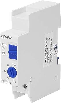 ORNO CR-230 Temporizador de escalera 230v Carga máxima: 2300 W Montaje: Carril DIN: Amazon.es: Bricolaje y herramientas
