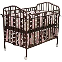 LA Baby Mini/Portable Crib, Chocolate