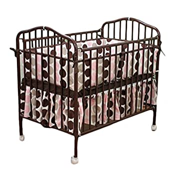 LA Baby Mini Portable Crib, Chocolate