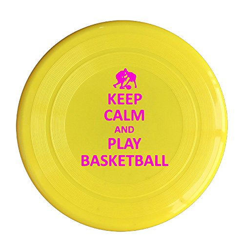 AOLM Keep Calm And Play Basketball Outdoor Game Frisbee Light Up Flying Yellow