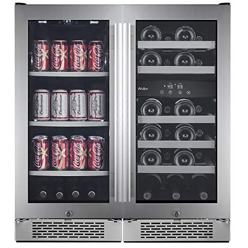 Avallon AWBV2386 23 Bottle + 86 Can Side-by-Side Wine & Beverage Center ()