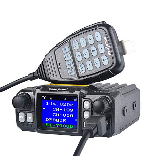 Mobile Ham Radio Amateur Radio Vehicle Transceiver Quad-Standby Quad Band UHF 400 480 MHz 350 390 MHz VHF 136 174 MHz 220 260 MHz Mini Color Screen 25W 20W with Long Range Black