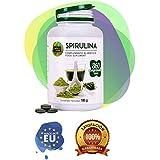 Spirulina con una grande quantità di sostanze nutritive e proteine vegetali - Integratore alimentare a base di alghe spirulina adatto ai vegani - Fornisce energia e vitalità - 360 compresse