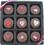 Gift Box Of 9 Oreo's Chocolate Valentines Day Assortment, Dark Chocolate