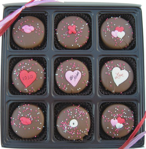 Image of Gift Box Of 9 Oreo's Chocolate Valentines Day Assortment, Dark Chocolate