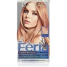 L'Oréal Paris Feria Permanent Hair Color, 822 Rose Gold (Medium Iridescent Blonde)
