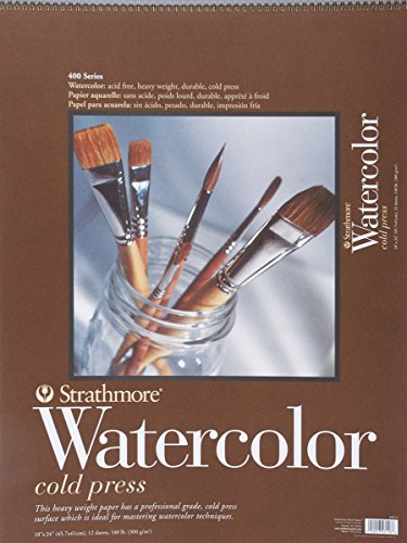 Strathmore 440-5 Strath W.Color 400 18X2412SHT 130LBS, 18