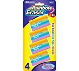 Bazic Rainbow Eraser, 4 per Pack (Case of 72)