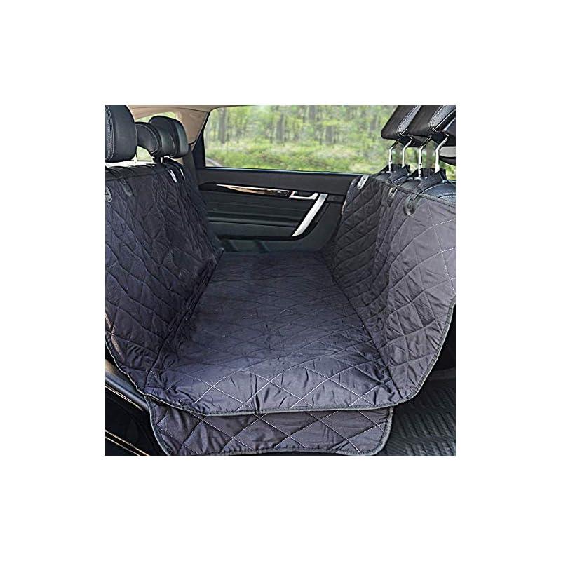 dog supplies online winner outfitters dog car seat covers,dog seat cover pet seat cover for cars, trucks, and suv - black, 100% waterproof, hammock convertible