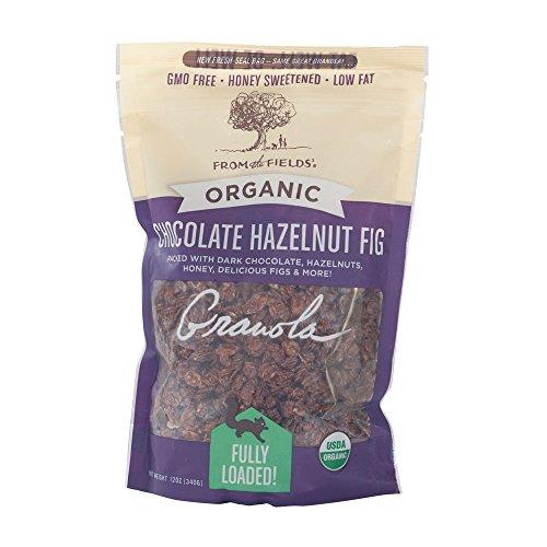 From The Fields Chocolate Hazelnut Fig Granola, 12 Ounce (Hazelnut Cereal)