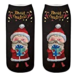 HEHEM Christmas Socks Cute Socks Christmas Breathable Warm Socks Comfortable Christmas Cotton Sock Slippers Short Print Ankle Socks