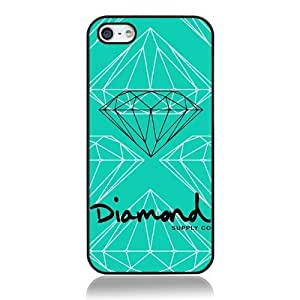 Diamond Supply co HD image Plastic case cover for Iphone5 5S case Black shell nice packaged by LINDAS