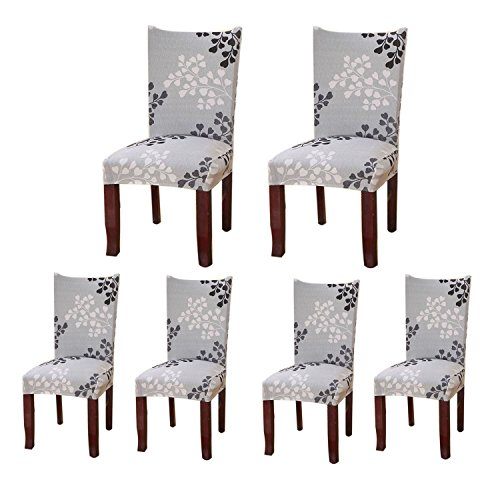 Jiuhong Stretch Removable Washable Short Dining Chair Protector Cover Slipcover (6, Style 03)