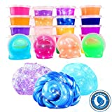 24 Colors/Pack Kids Magic Crystal Clay, Soft Slime Toys, Goody Bag Filler Birthday Gifts Non-Toxic
