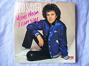"More Than I Can Say - Leo Sayer 7"" 45"