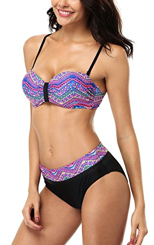 Underwired Two Piece Swimsuit - 1