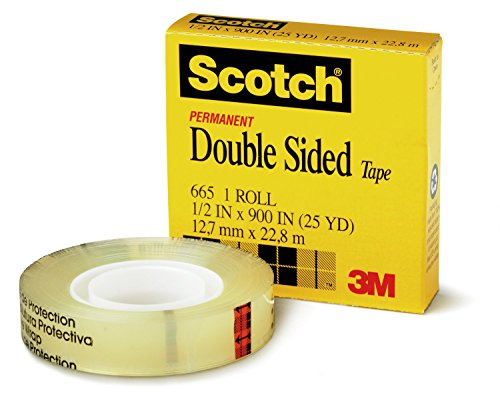 - Scotch Brand Double Sided Tape, Standard Width, Long-Lasting, Photo-Safe, Engineered for Holding, 3/4 x 1296 Inches, Boxed, 1 Roll (665)