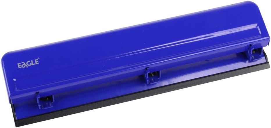 strapazierf/ähig 12 Blatt Kapazit/ät Eagle Desktop 3 Locher Papierstanzer Metall blau
