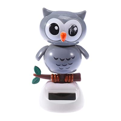 NUOBESTY Cute Solar Dancing Toy Lovely Owl Solar Powered Dancing Dolls Swinging Animated Bobble Dancer Car Desk and Dashboard DÃcor: Home & Kitchen