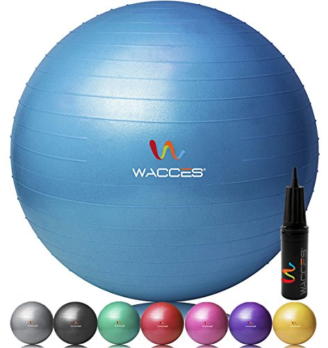 Wacces® Fitness Exercise and Stability Ball (Blue, 55 cm)