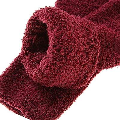 MIUBEAR 6 Pack Women Super Soft Warm Microfiber Fuzzy Winter Warm Sleeping Slipper Socks (6 Pack Dark Color) at  Women's Clothing store