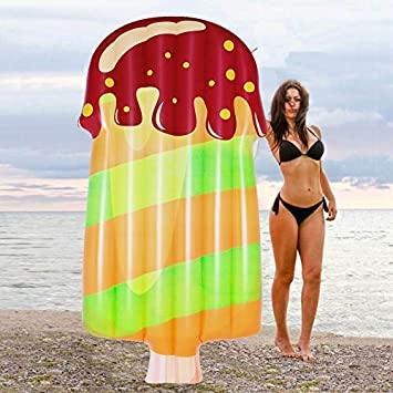 LARGE INFLATABLE ICE LOLLY Giant Swimming Pool Sun Beach Lilo Lounger Air Bed UK