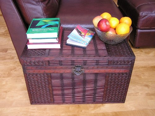 Original Hawaii Wooden Chest Wood Steamer Trunk - Medium Trunk