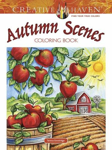 Coloring Books for Seniors: Including Books for Dementia and Alzheimers - Creative Haven Autumn Scenes Coloring Book (Adult Coloring)