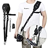 Sugelary Camera Strap Rapid Quick Release Shoulder Sling Camera Strap Belt for Canon Nikon Sony Fujifilm Olympus DSLR SLR (F-2)
