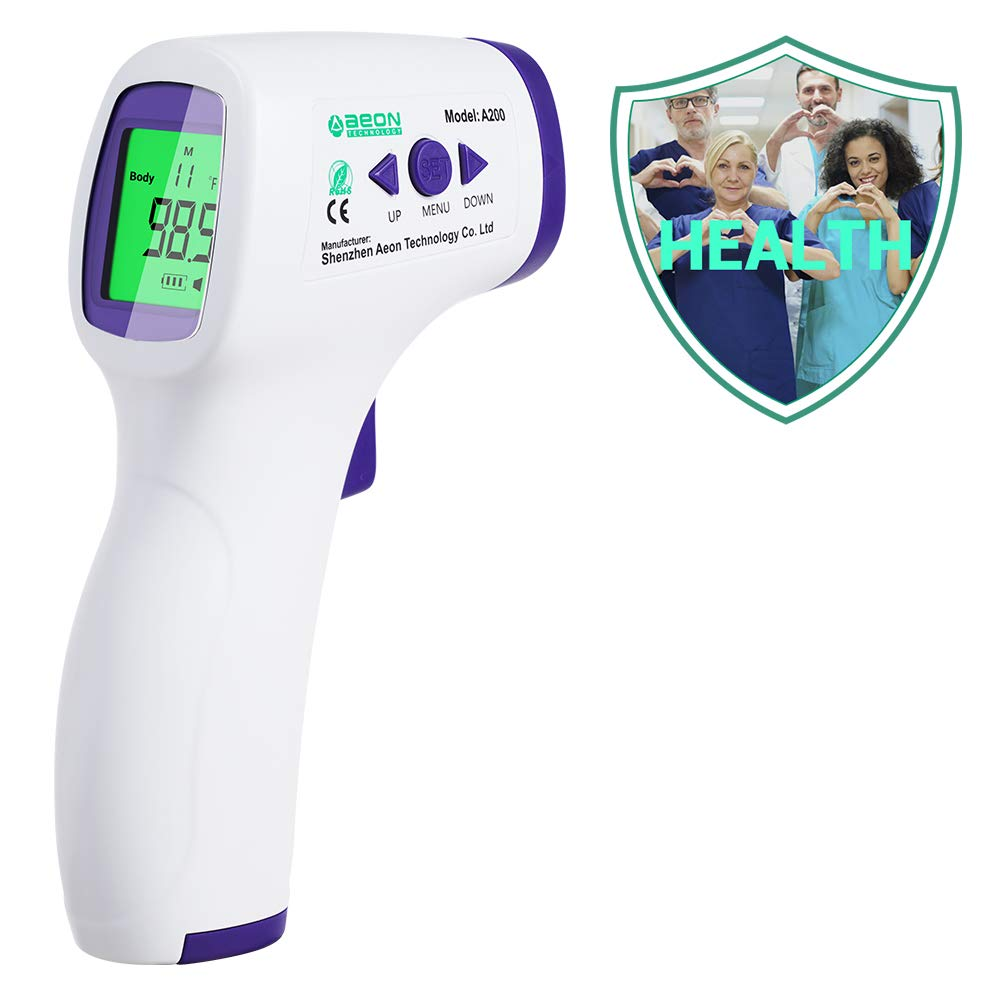 Forehead Thermometer for Adults//Kids Medical Thermometer Precise Digital Forehead Body Thermometer for Adults Kids and Baby Easy to Read at Night Non Contact Infrared Thermometer for Fever