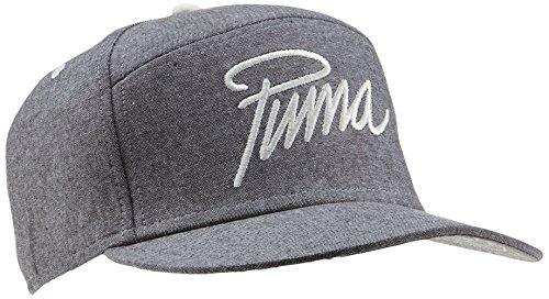 PUMA New 6 Panel Flatbrim Cap, Grau (Black), One size, 832526 01