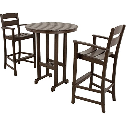 Classics 3-piece Bar Dining Set by Ivy Terrace (Brown)