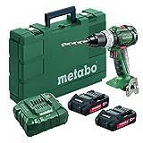 Metabo- 18V Brushless Drill/Driver Kit 2X 2.0Ah (602325520 18 LT BL 2.0), Drills & Drill/Drivers
