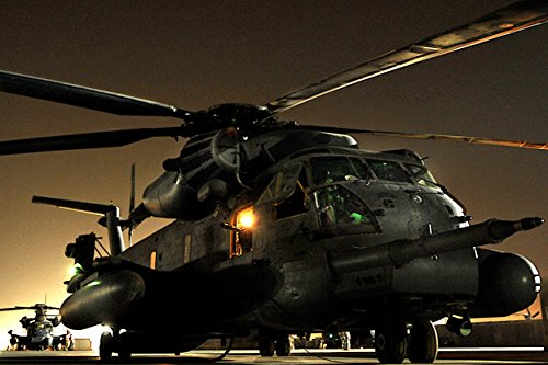 Pave Multi Frame - Framed Art Your Wall Final Mission. MH-53 Pave Low Helicopters Prepare to take Off Their Final Combat Mission on Sept 10x13 Frame