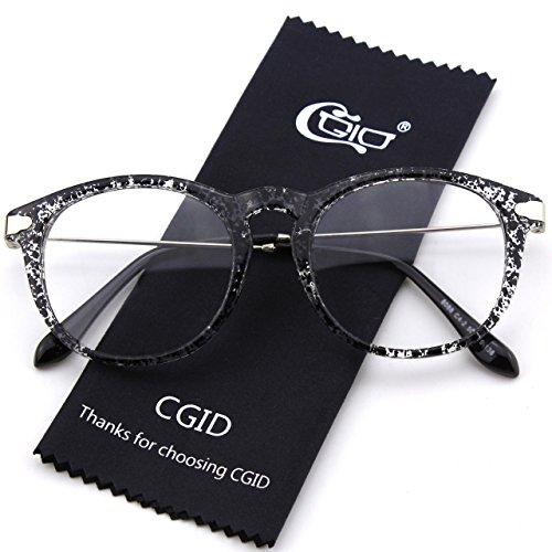 CN88 CGID Mujer Hombre Spot Anteojos Gafas Para y Lente Retro Negro Claro Zd1wqdr