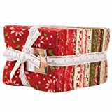 Petites Maisons De Noel Fat Quarter Bundle of 40 by Moda