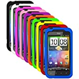Cbus Wireless Ten Silicone Cases / Skins / Covers for HTC DROID Incredible 2 - Black, White, Green, Yellow, Blue, Orange, Hot Pink, Light Pink, Purple, Red
