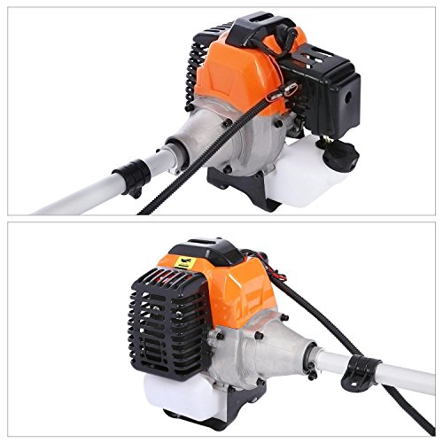 Lantusi 43cc 2-Cycle Gas Powered Straight Shaft Trimmer Brush Cutter Combo with Adjustable J-Handle for Grass Trimming by Lantusi (Image #7)