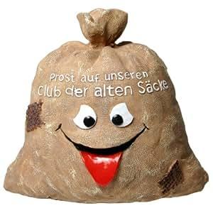"""Udo Schmidt - Hucha con texto en alemán """"Prost auf unseren Club der alten Säcke"""""""