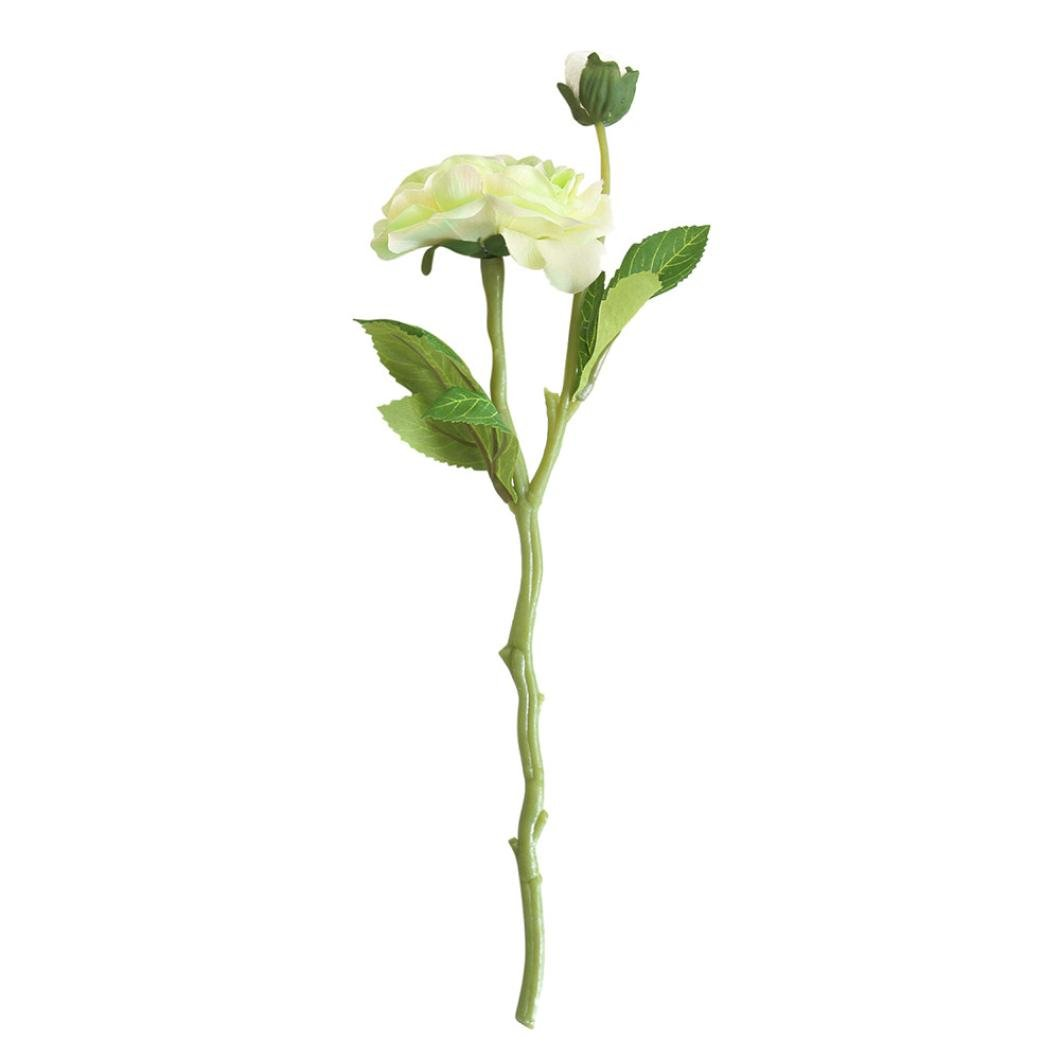 Artificial Flowers,Silk Daisy Rose, BCDshop Fake Bouquet for Grave Home Wedding Decoration (Green)