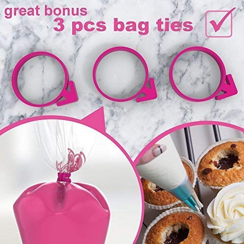 "Icing Bags Tipless Piping Bags For Royal Icing - 50pcs 16"" Pastry Bag Iicing Bag - Disposable Icing Bags Tipless - Disposable Cake Decorating Bags - Pastry Bags Disposable - Disposable Piping Bags"